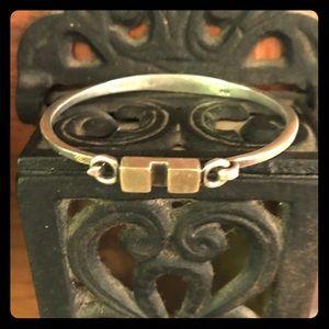 Vintage .925 sterling & 14k gold bracelet